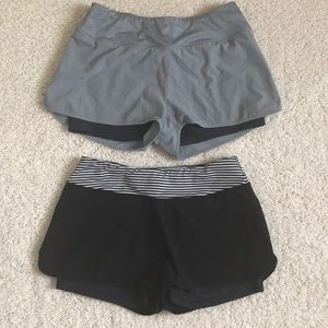 2 pairs of athletic shorts
